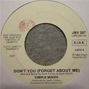 Simple Minds / Alberto Solfrini - Don't You / Se Le Canti Un Boogie MP3